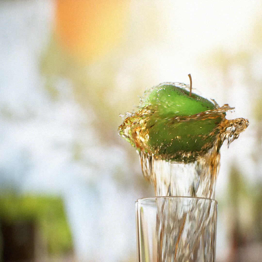 Apple dancing on a fountain of Jim Beam® Apple.