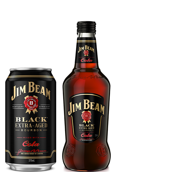 Jim Beam Black® RTD Can and Bottle