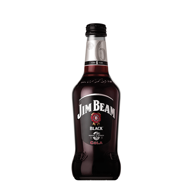 Packshot of Jim Beam® Black and Cola