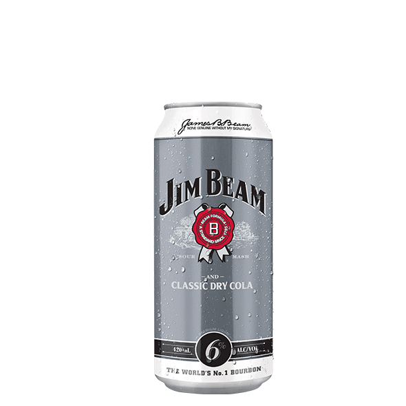 Packshot of Jim Beam® Classic Dry and Cola
