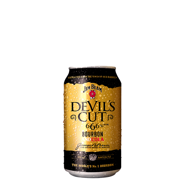 Packshot of Jim Beam® Devils Cut Cola
