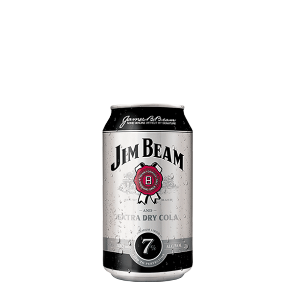 Packshot of Jim Beam® Extra Dry and Cola
