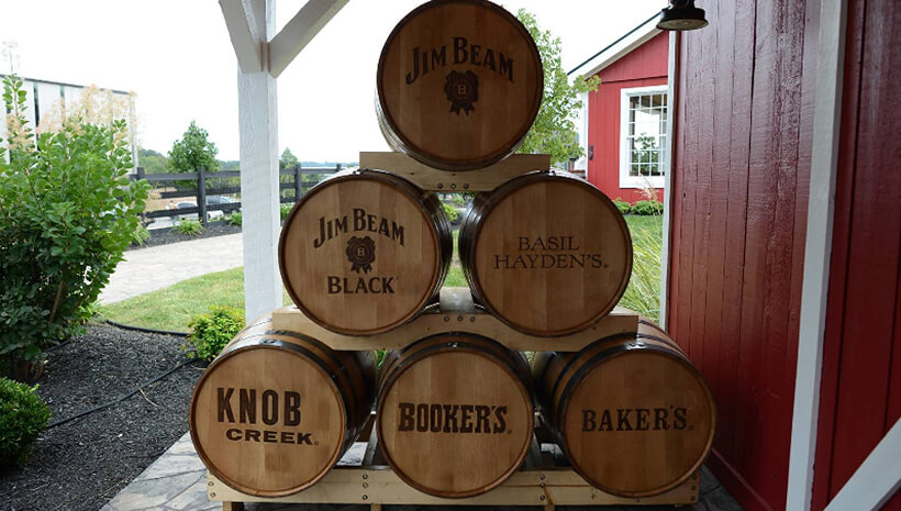 Jim Beam® barrel collection.