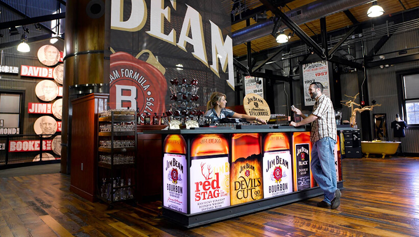 O Beam Bar na Jim Beam American Stillhouse.