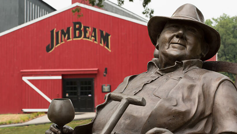 Jim Beam statue at the Jim Beam American Stillhouse.