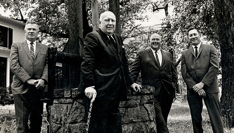 Jeremiah, Carl, Baker and Booker outside by Jacob's well – June 1968.