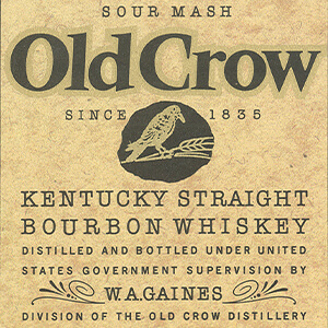 Kentucky straight bourbon whiskey label.