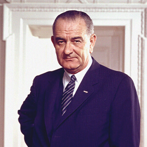 Photo of President Lyndon Baines Johnson.