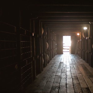 A look into a Jim Beam® warehouse.