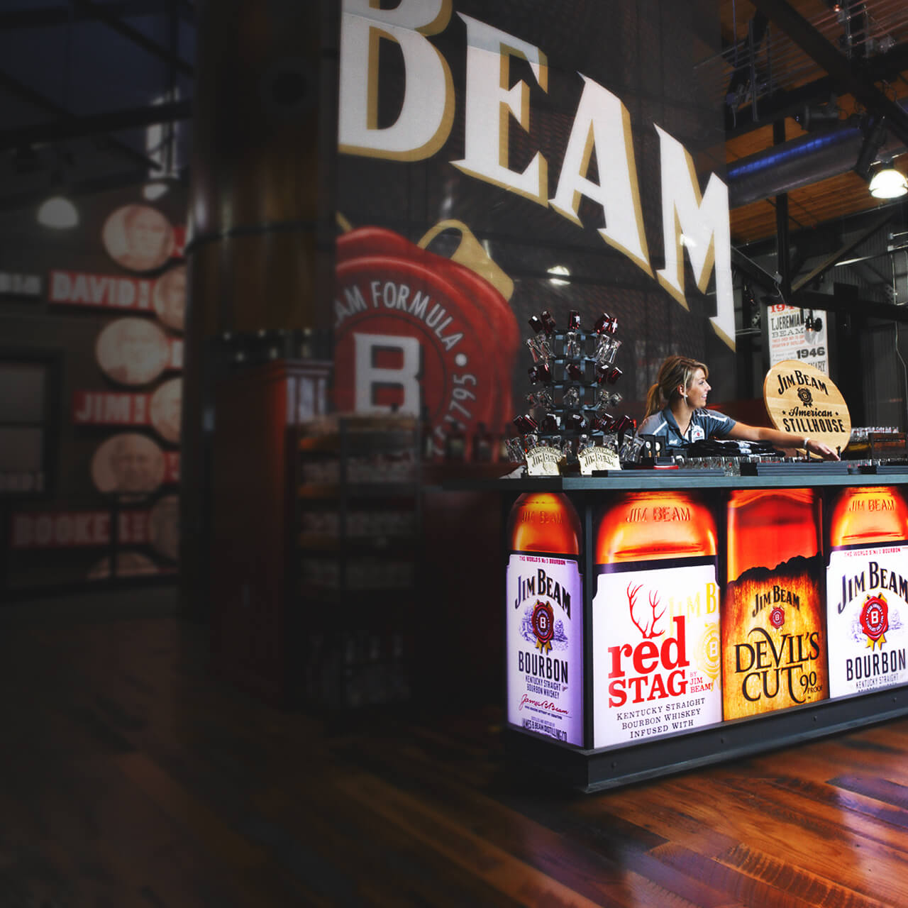 Jim Beam®  im Jim Beam American Stillhouse.