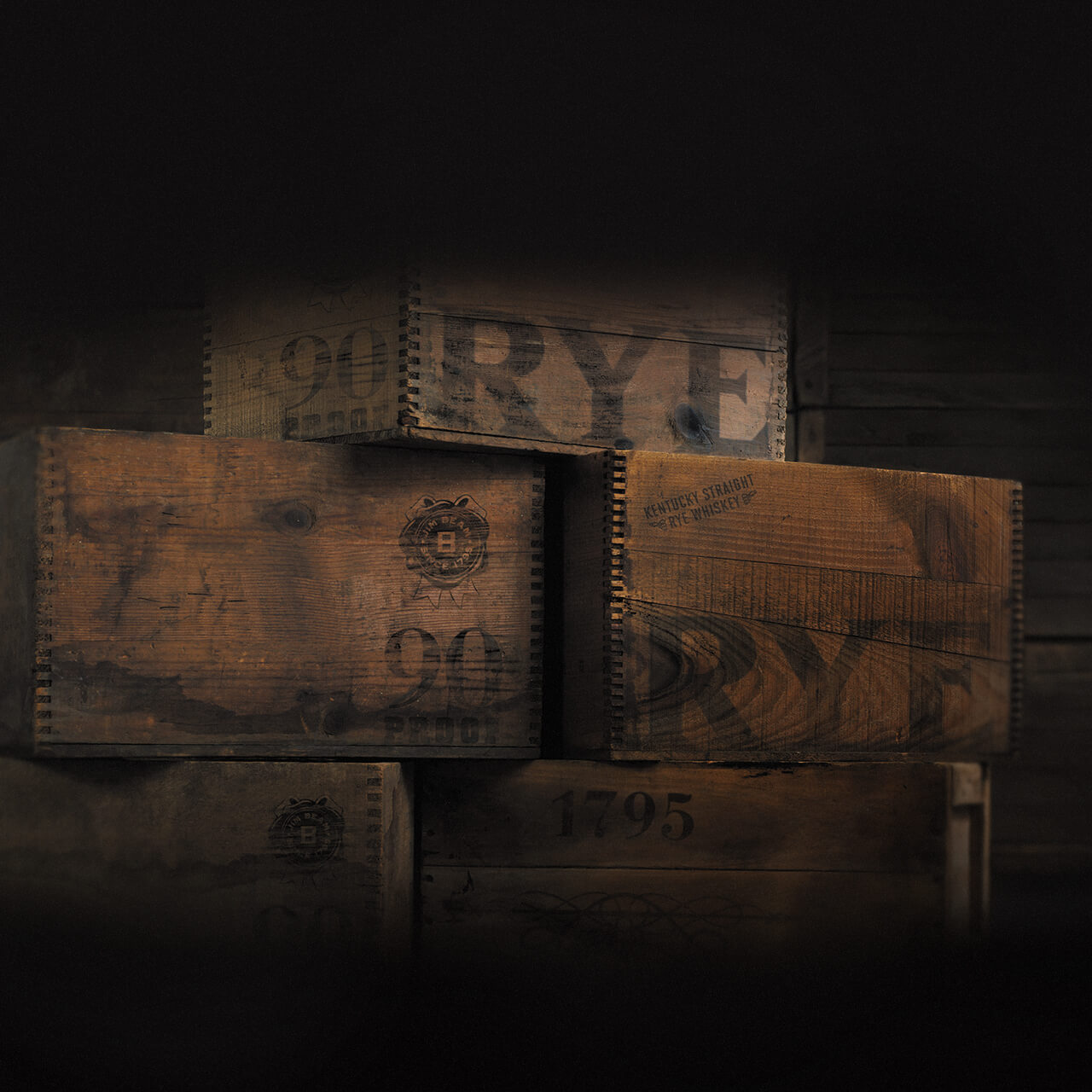 Crates filled with Rye.