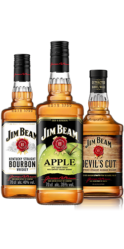 Image de Jim Beam® Original, Jim Beam® Apple and Jim Beam® Devil's Cut.