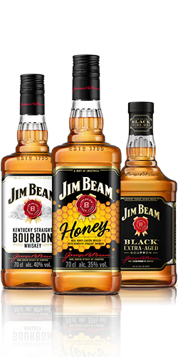 Jim Beam® Original, Jim Beam® Black e Jim Beam® Honey.