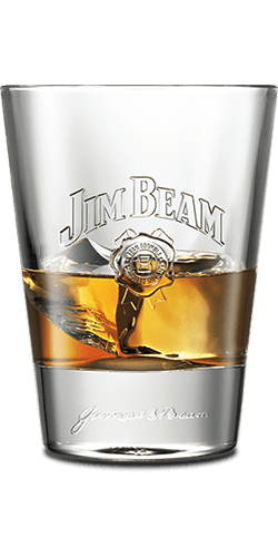 Glass of Jim Beam®.
