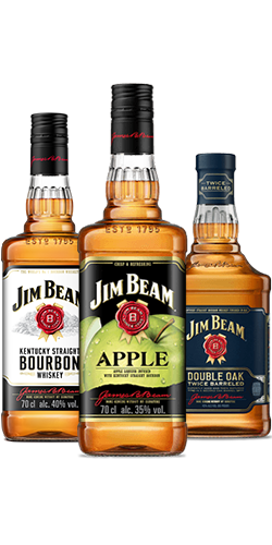 Packshot of Jim Beam® Bottles