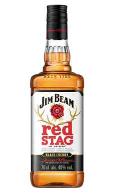 red STAG by Jim Beam® Black Cherry Packshot.