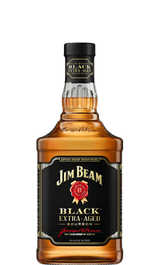 Packshot of Jim Beam Black Bourbon.