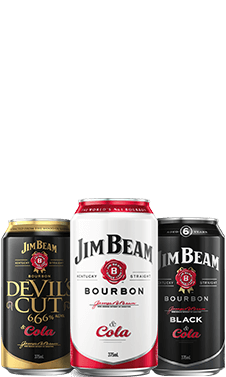 Packshot of Jim Beam® Cans
