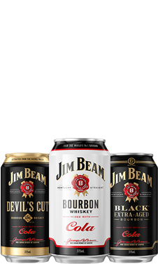 Packshot of Jim Beam RTD Range.