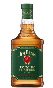 Jim Beam® Rye Bourbon Packshot.